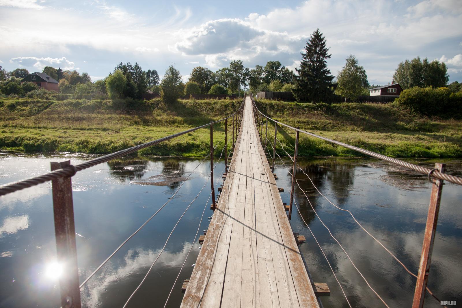 Подвесной мост в Тучково